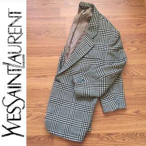 YvesSaintLaurent • Vintage Houndstooth Suit Blazer